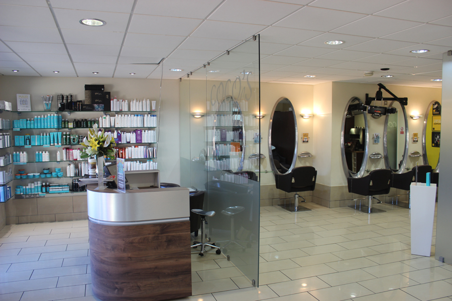Coco's Style Hair Salon Crawley Reception and Seats